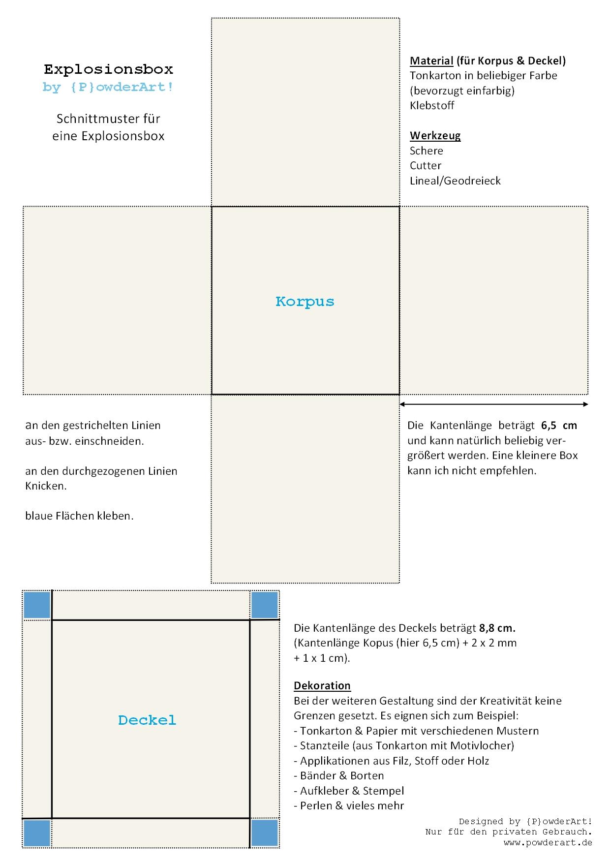 P}owderArt! - Geschenke für Männer, Frauen und Kinder - Verpackung & Co.